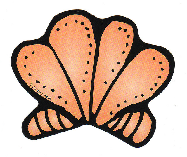 640x538 Orange Seashell Clip Art