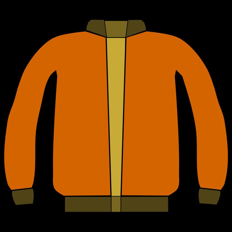 800x800 Free Orange Jacket Clip Art