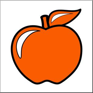 304x304 Clip Art Colors Apple 02 Red Orange Color I Abcteach