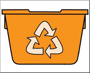 304x248 Clip Art Recycle Bin Color Orange I Abcteach