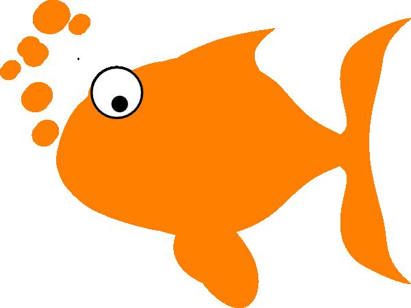 600x450 Orange Fish Clip Art