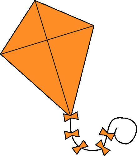 440x500 Orange Kite Clip Art Image Clipart Panda