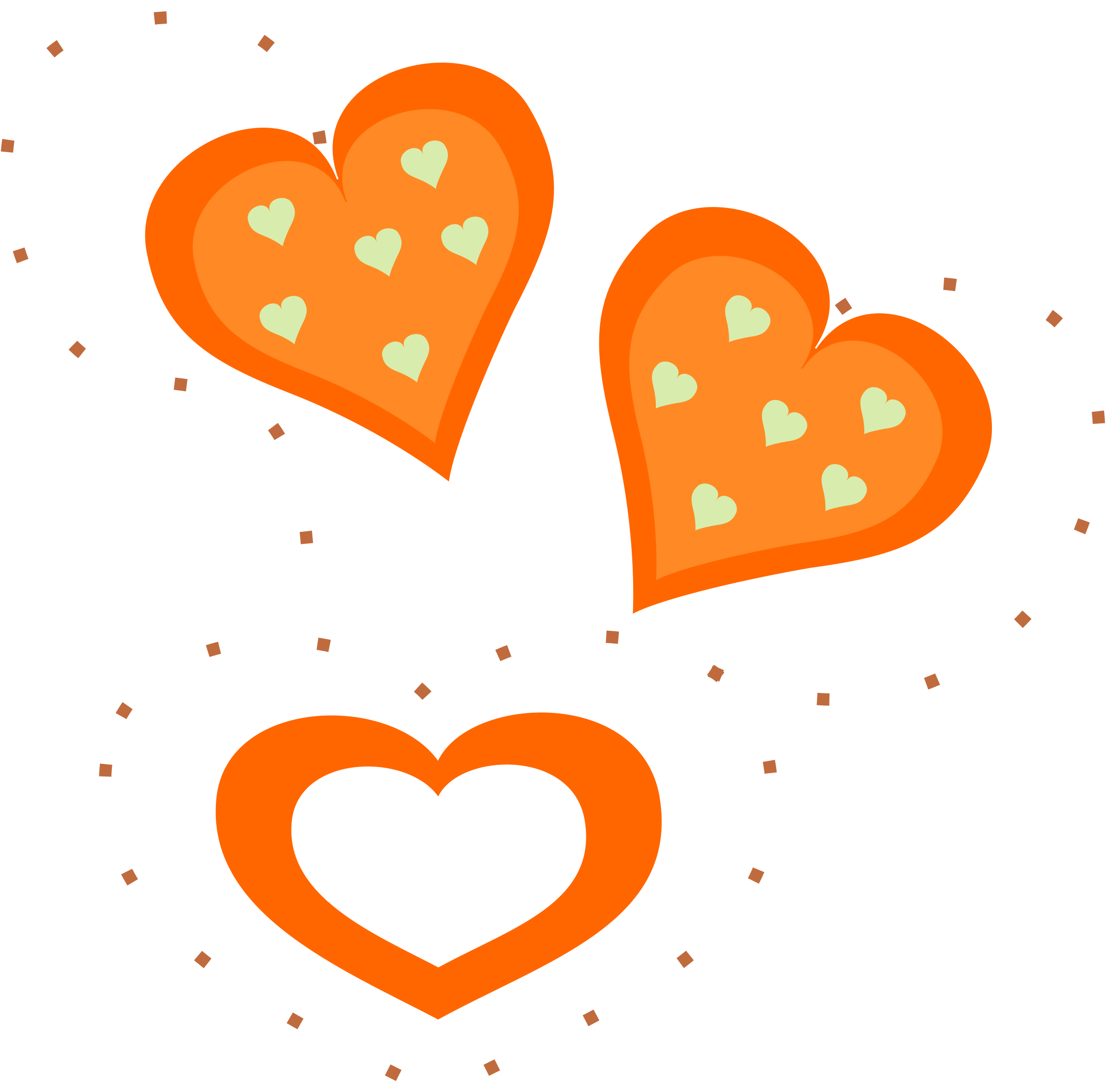 2400x2353 Orange Clipart Heart