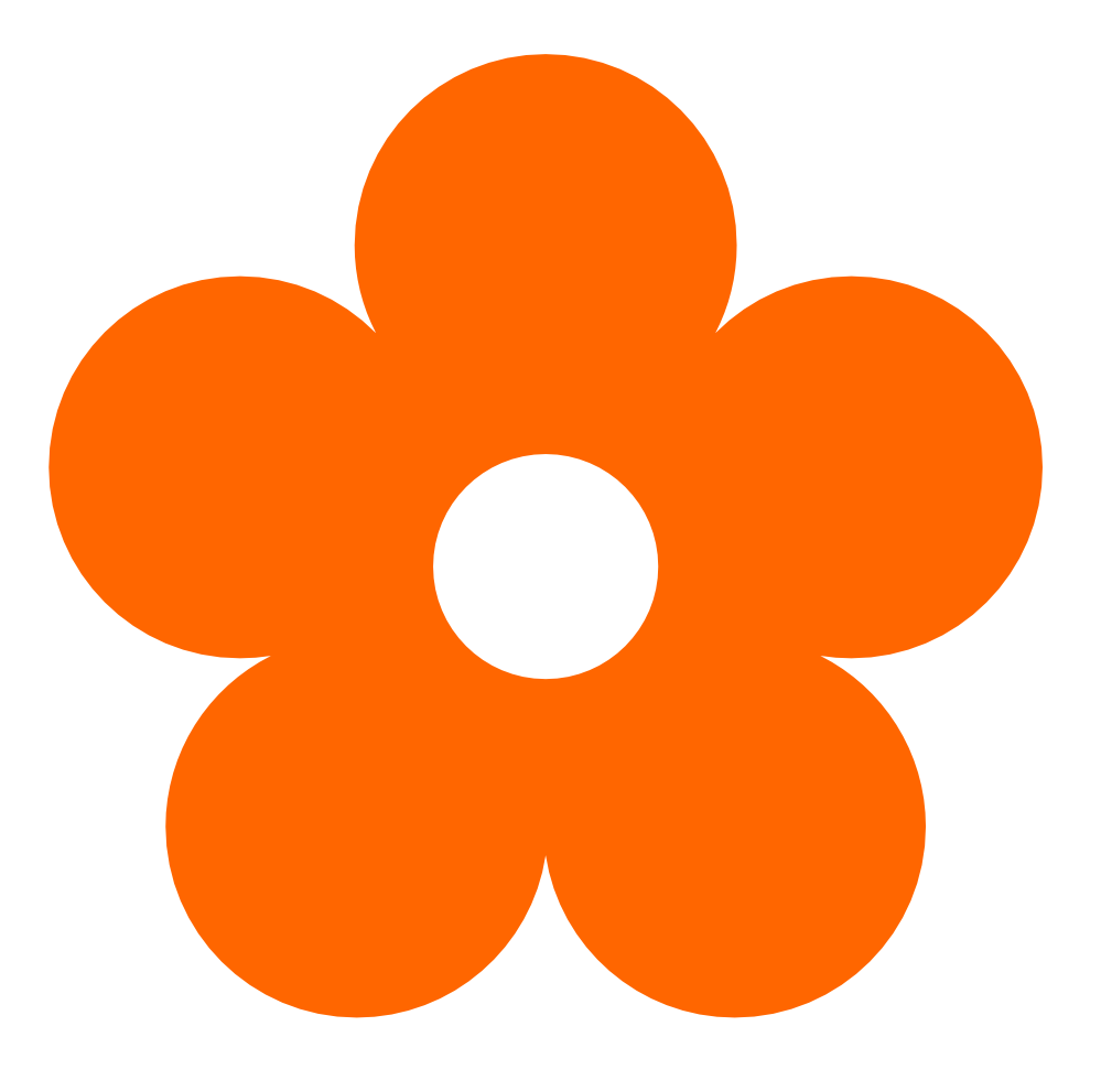999x990 Pink Flower Clipart Orange Flower