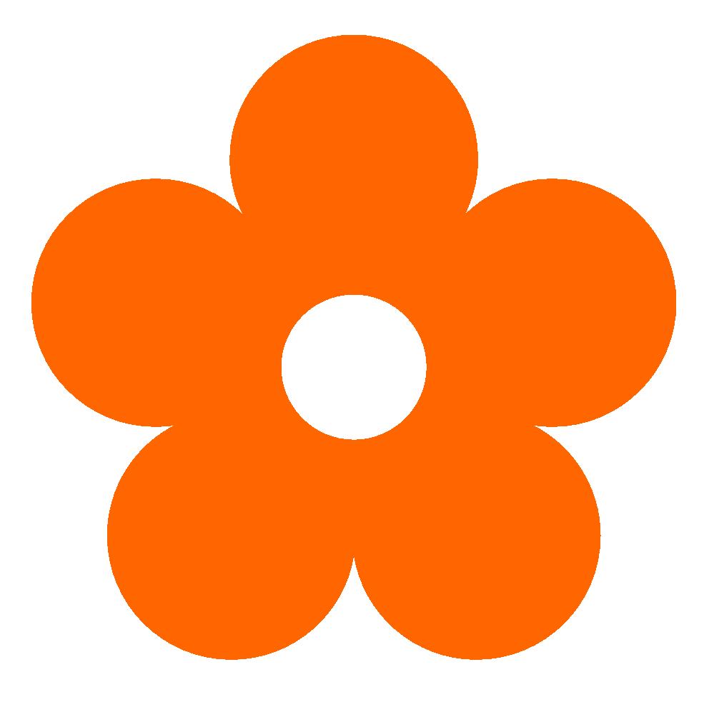999x990 Pink Flower Clipart Orange Flower