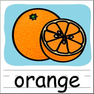 304x304 Clip Art Basic Words Orange Color Labeled I Abcteach