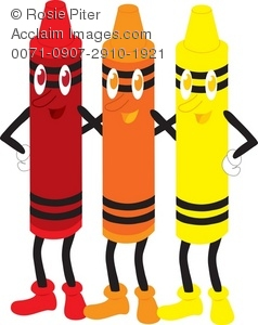 Orange Crayon Clipart