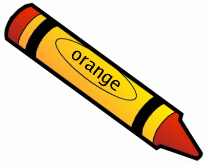 400x322 Crayon Clipart Orange Crayon
