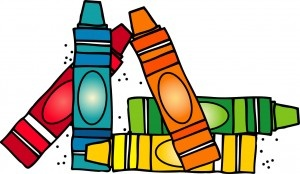 300x174 Crayons Clip Art Free