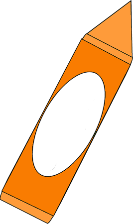 267x450 Big Orange Crayon Clip Art