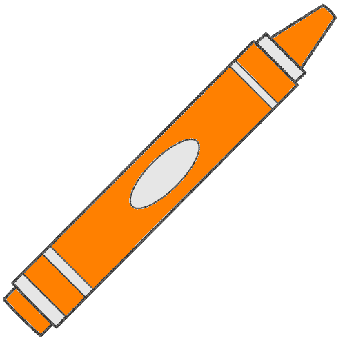 500x500 Orange Crayon Clipart