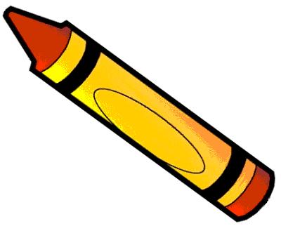 400x322 Orange Crayon Clip Art Image