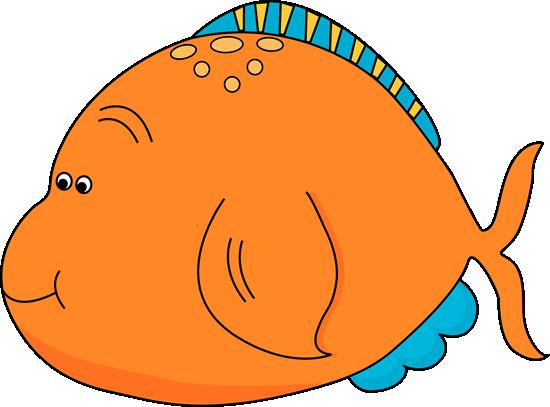 550x407 Cute Orange Fish Clip Art