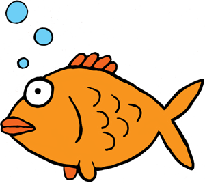 300x268 Gold Fish Clipart Golden Fish