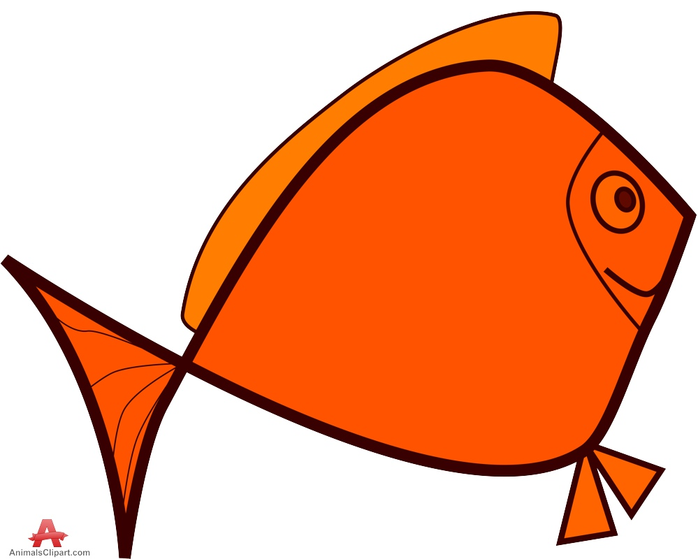 999x800 Cartoon Orange Fish Free Clipart Design Download