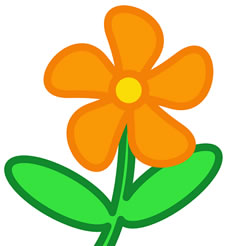 225x246 Orange Flower Clipart Spring Flower