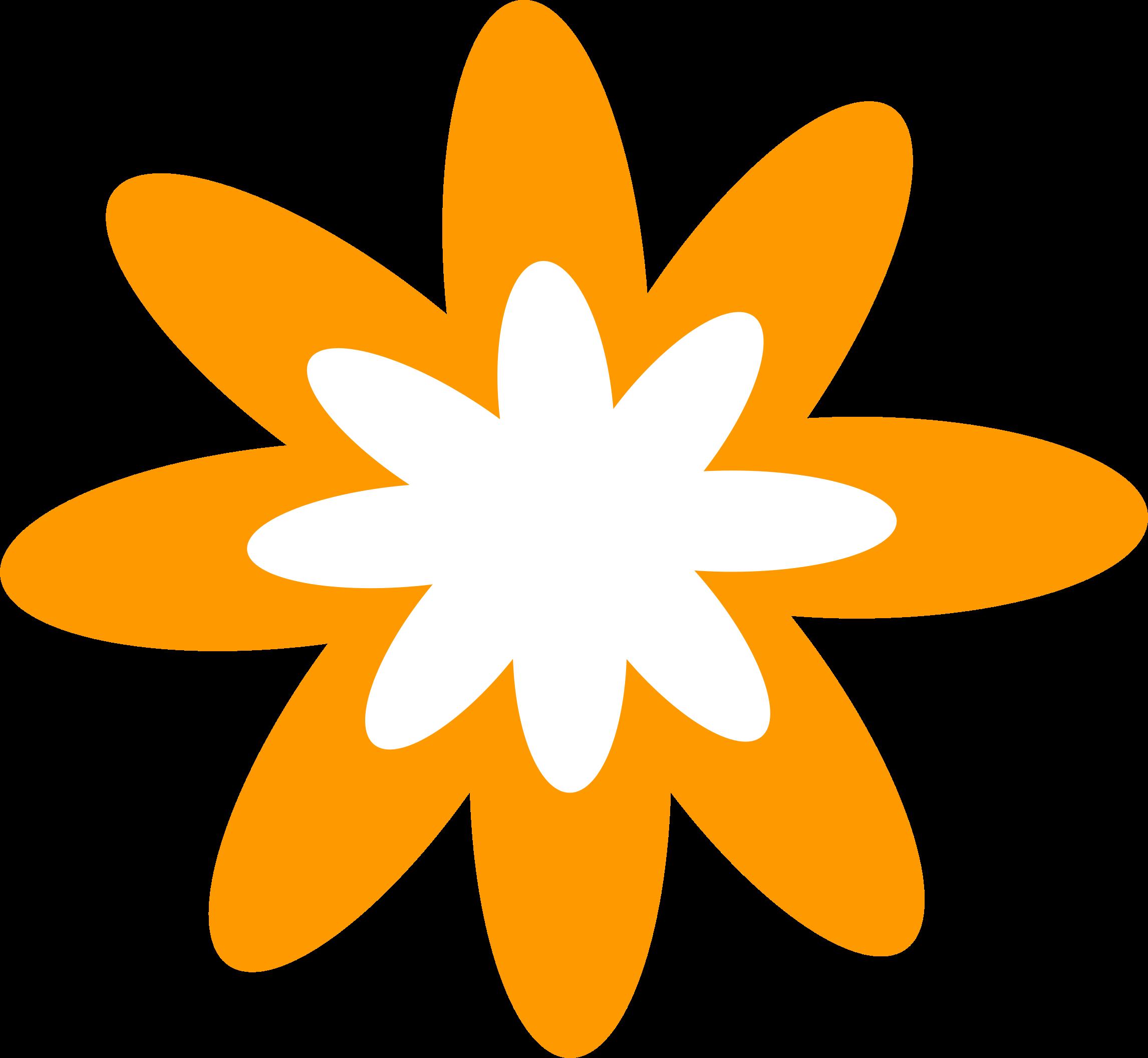 2292x2112 Orange Flower Clipart Tiny Flower