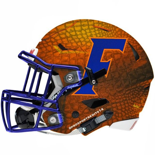 Orange Football Helmet