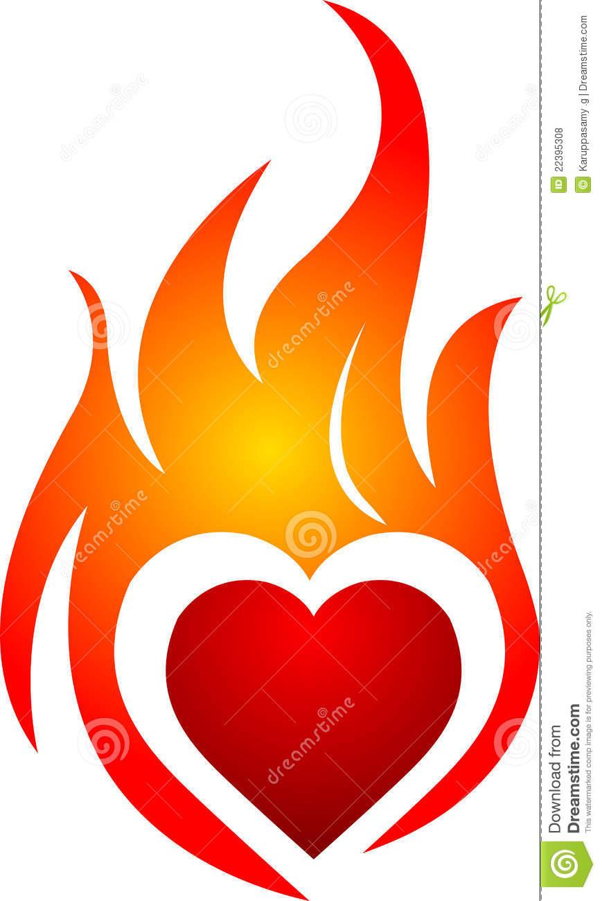 869x1300 Fire Clipart Heart