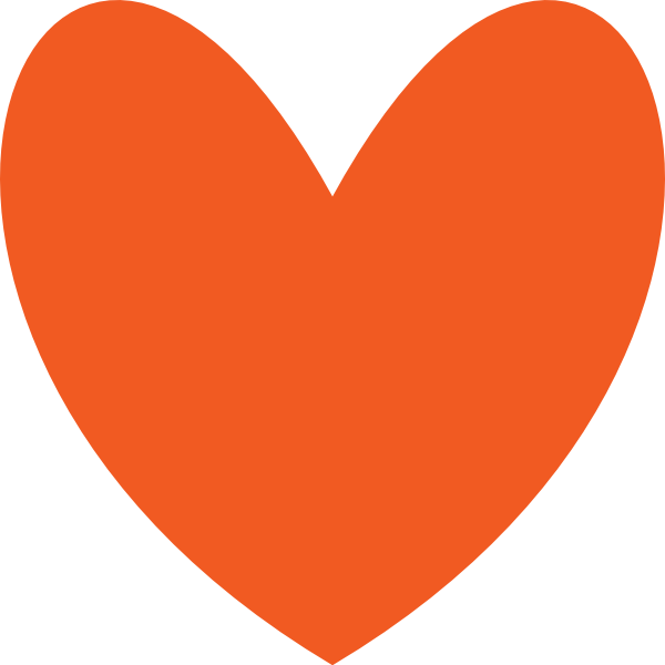 600x600 Graphics For Orange Red Heart Graphics