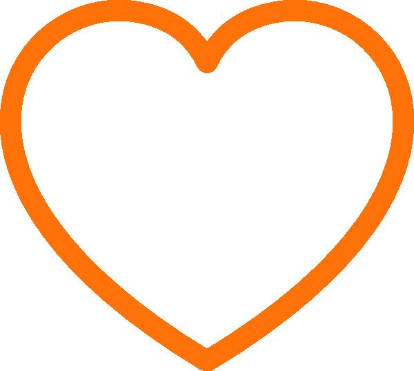 600x537 Orange Heart Clip Art