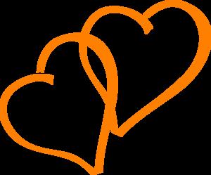 300x249 Orange Hearts Clip Art