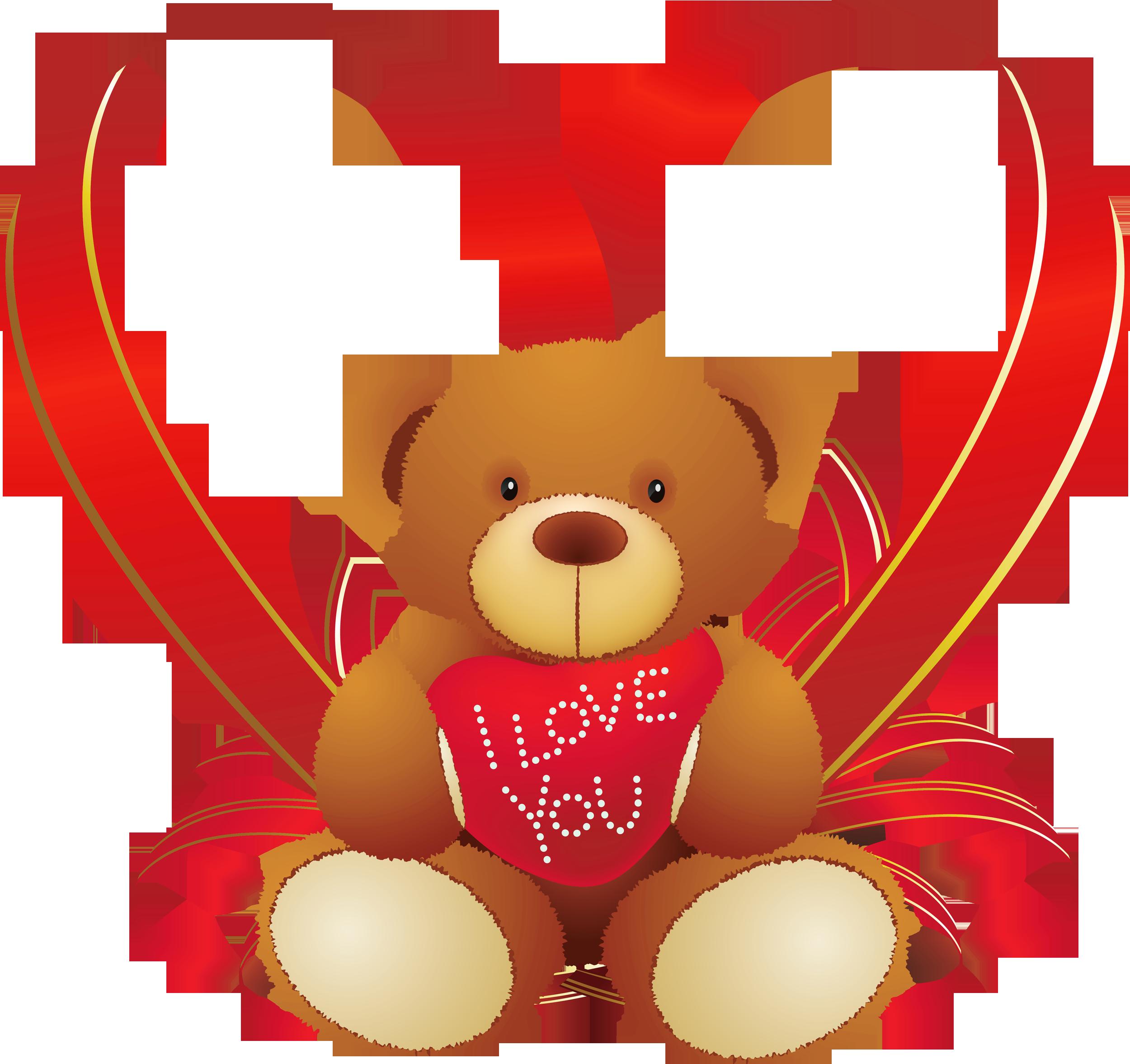 2500x2353 Bear Clipart Heart