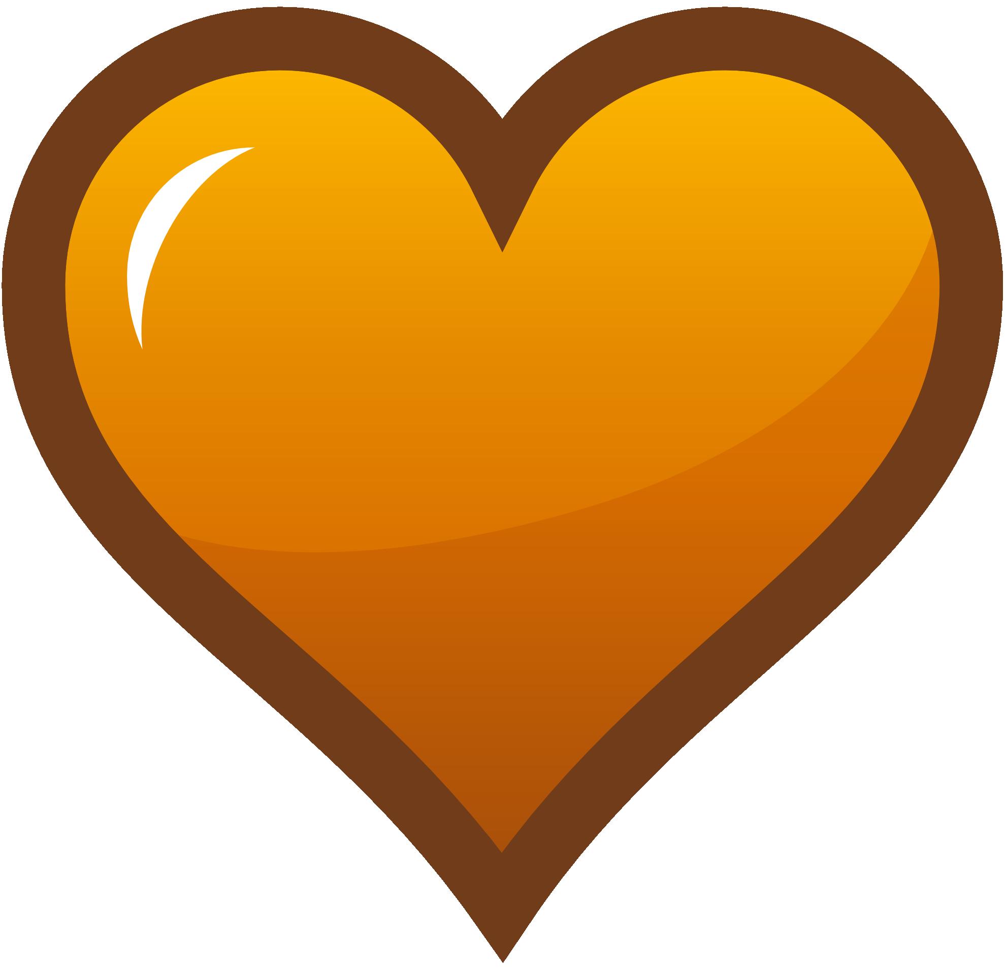 1979x1906 Orange Clipart Heart