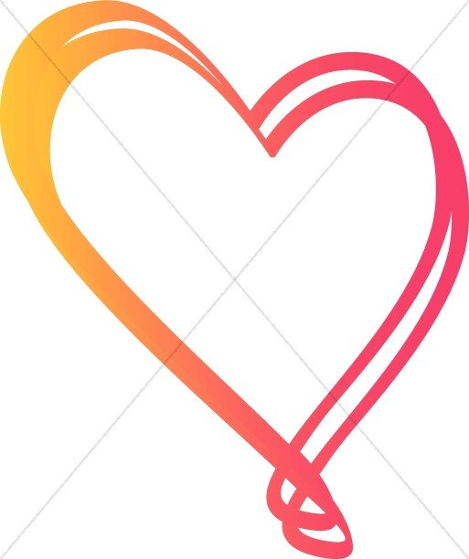 513x612 Pinkish Fun Heart Valentines Day Clipart