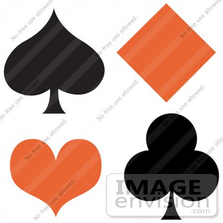 450x450 Royalty Free Cartoon Clip Art Of A Black Spaded Club