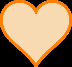 300x279 Solid Orange Heart Clip Art