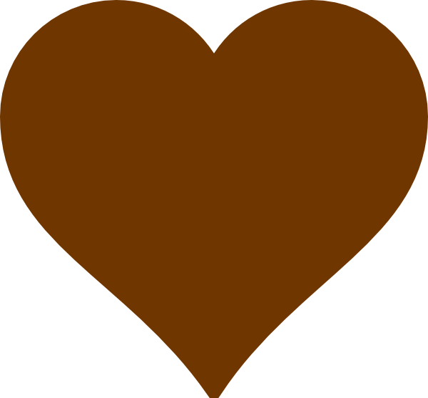 600x557 Brown Heart Cliparts
