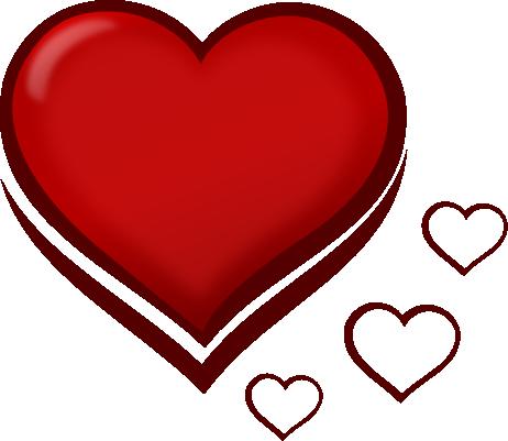 462x401 Heart Clipart Orange Heart Clip
