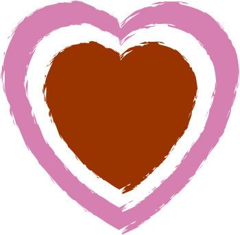 350x343 Double Heart Printable Double Border Heart Clip Art