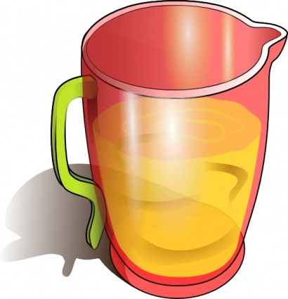 410x425 Juice Pitcher Clipart