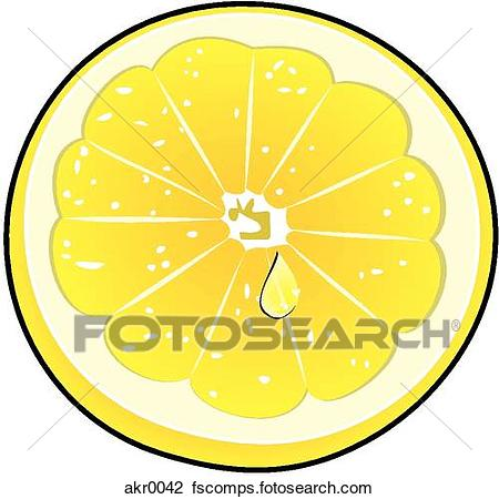 450x450 Clip Art Of Lemon Slice Akr0042