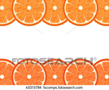 450x369 Drawings Of Abstract Slice Grapefruit Border K5315784
