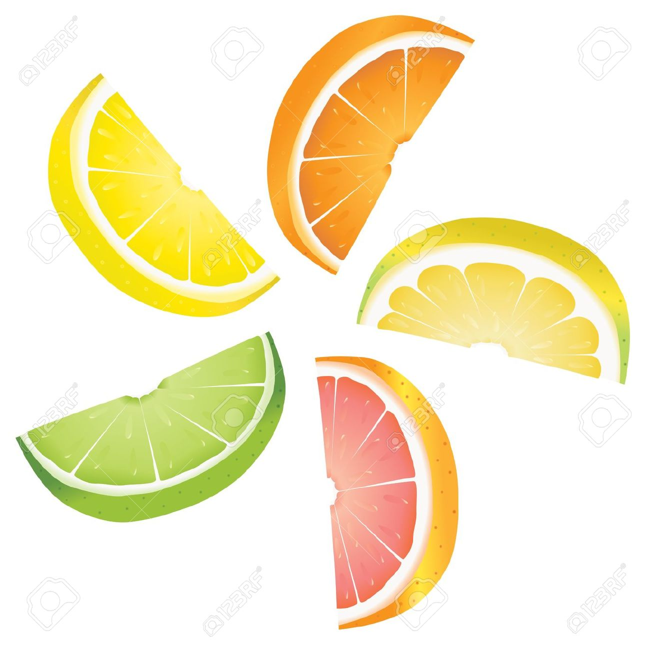 1300x1300 Lemon Clipart Orange Slice
