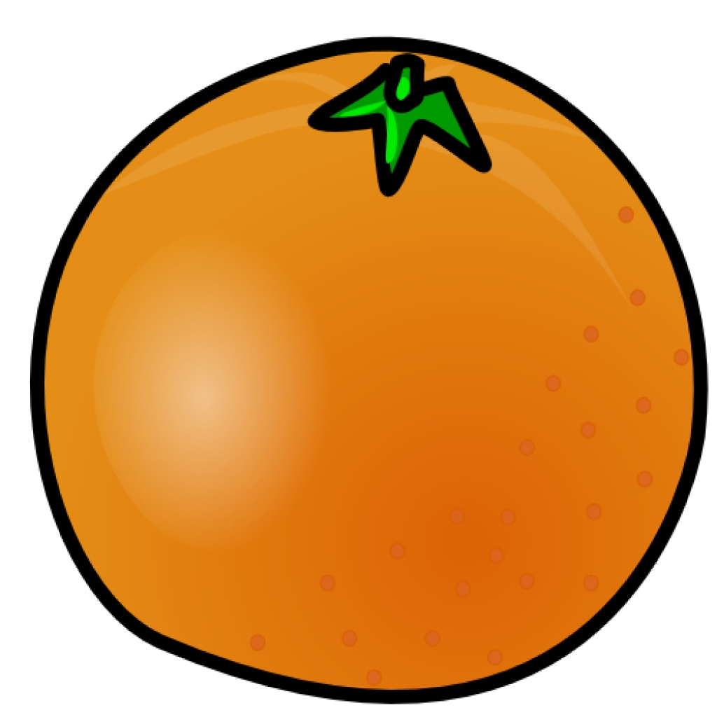 1024x1024 Orange (Fruit) Clipart