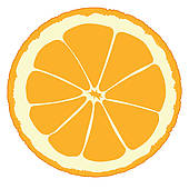 170x170 Orange Slice Clip Art