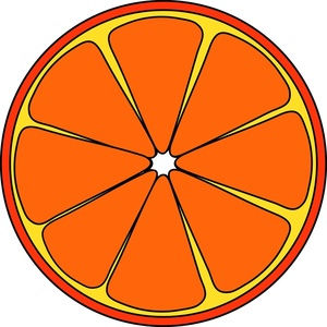 300x300 Orange Slice Clipart Image