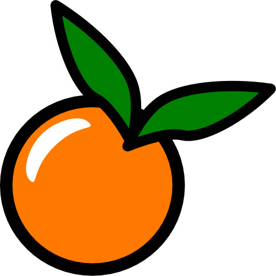 569x569 Orange Slice Clipart