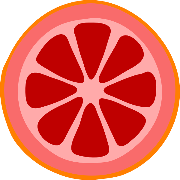 600x599 Blood Orange Slice Clip Art