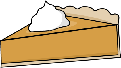 421x239 Pumpkin Pie Slice Clip Art