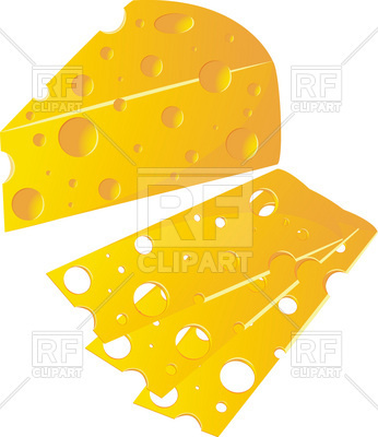 346x400 Cheese Piece And Slice Royalty Free Vector Clip Art Image