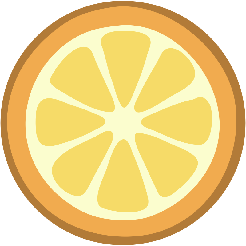 800x800 Citrus Clipart Orange Slice