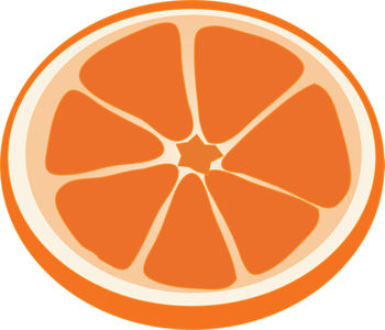 350x300 Clip Art Illustration Of A Slice Of Orange