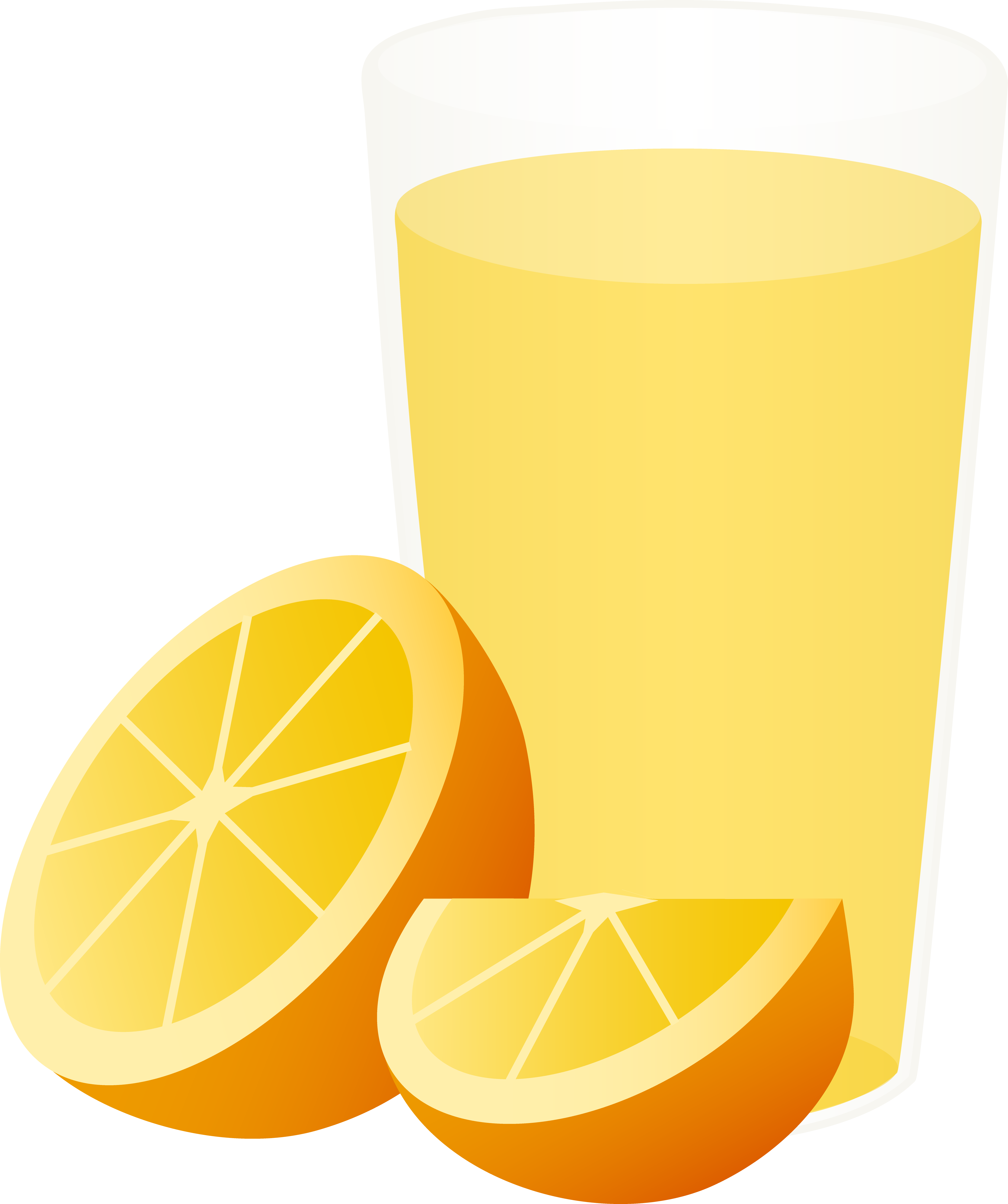 4348x5191 Glass Of Orange Juice With Sliced Fruit