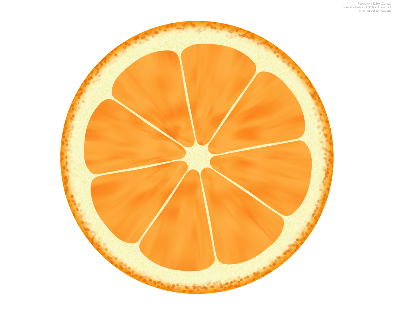 1280x1024 Orange (Fruit) Clipart Sliced