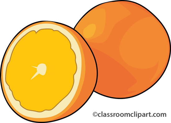 550x394 Orange (Fruit) Clipart Transparent